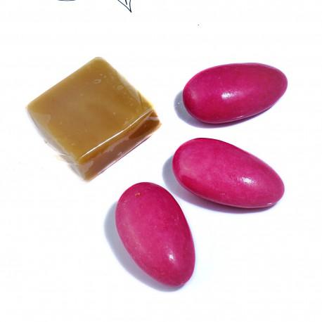 DRAGEES CARAMEL CHOCOLAT FRAMBOISE