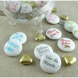 Palets Chocolat Mariage Personnalisés Texte-Texte