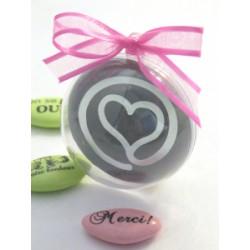 Boule PVC Diam 5 cm Vignette Coeur