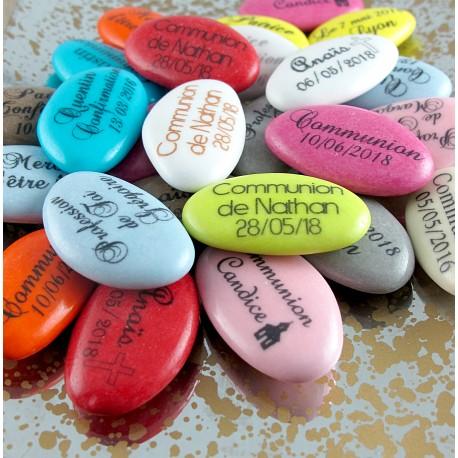 Dragées Communion Chocolat personnalisées texte