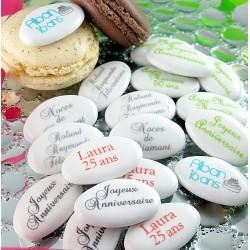 Dragées Anniversaire Chocolat personnalisées texte/texte