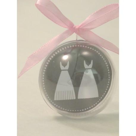 Boule PVC Diam 5 cm Vignette robes