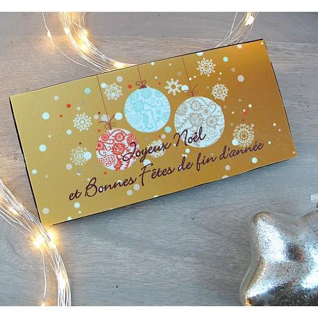 """Tablette chocolat """"Bonnes Fêtes"""""""