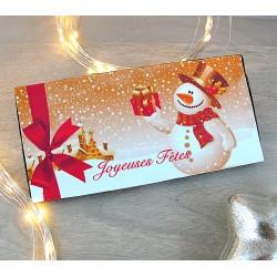 "Tablette chocolat ""Joyeuses Fêtes"""