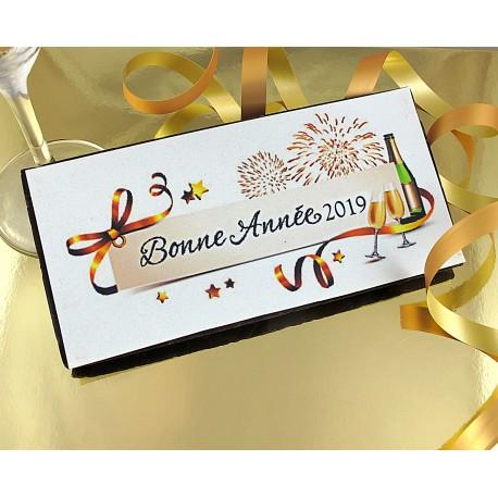 """Tablette chocolat """"Bonne Année"""""""