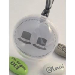 Boule PVC Diam 5 cm Vignette chapeaux