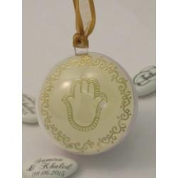 Boule PVC Diam 5 cm Vignette main de Fatma or